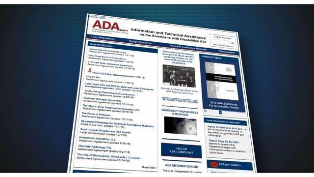 business websites ADA compliant